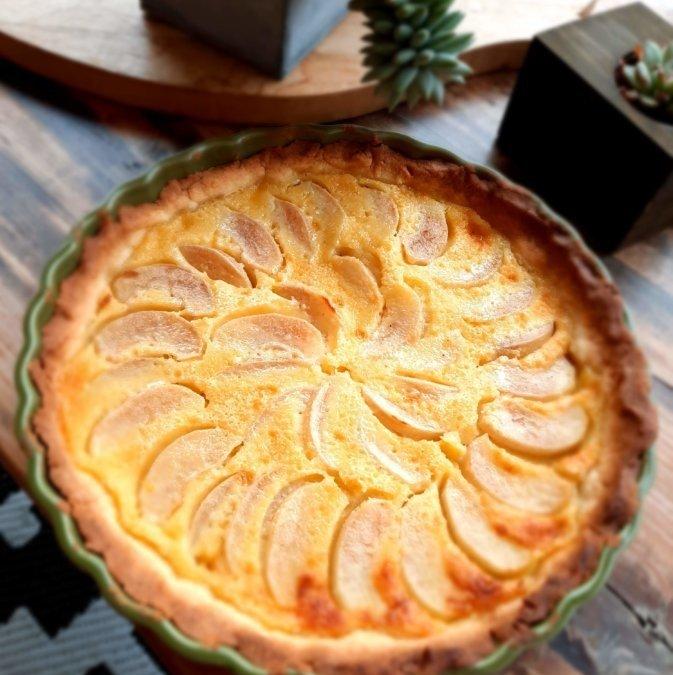 Tarte aux nashis (pomme-poire)