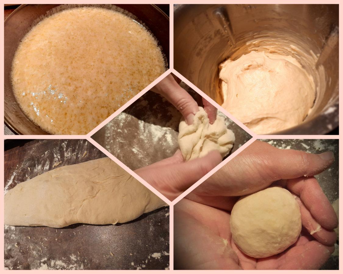 étape pain burger - mijote et papote