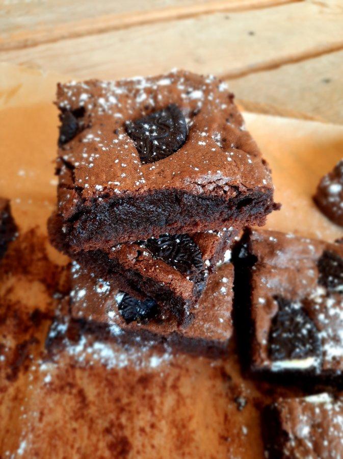 brownie aux oreo - mijote et papote