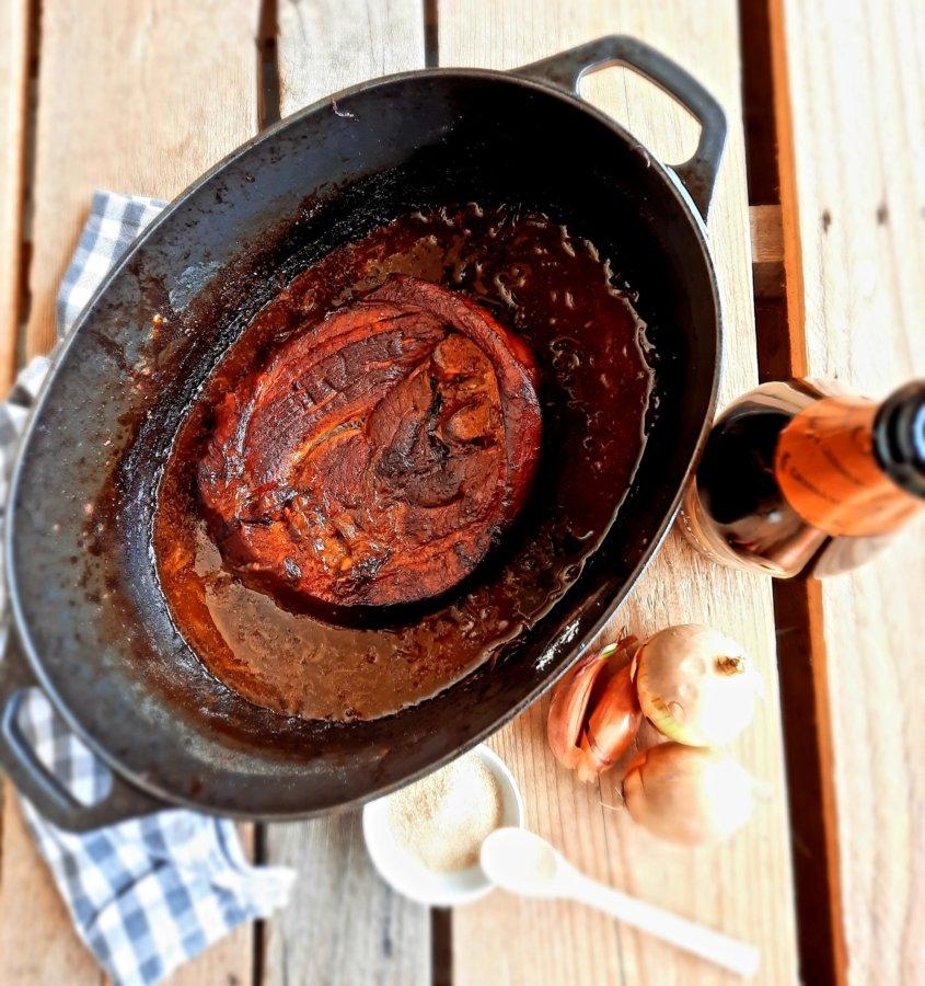 rouelle porc à la bière - mijoteetpapote